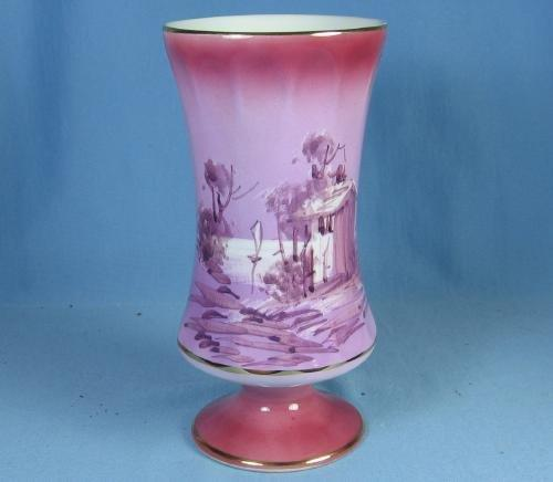 Continental Pottery PINK LUSTRE Luster Porcelain Vase - Hand Painted