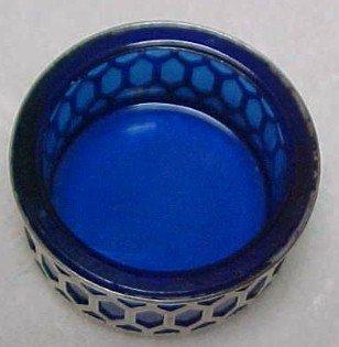 Cobalt Sterling Open Salt Dip - Glass