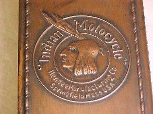 INDIAN MOTORCYCLE St. Louis 1915 Match Safe - Tobacciana