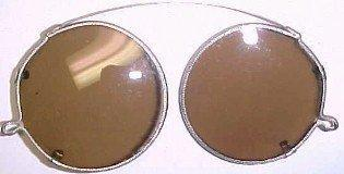 Old Silver Clip On Folding Sunglasses - Miscellaneous