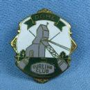 old DOME Curling Club -  Enameled  Sports Medal Pin - Antique Sporting