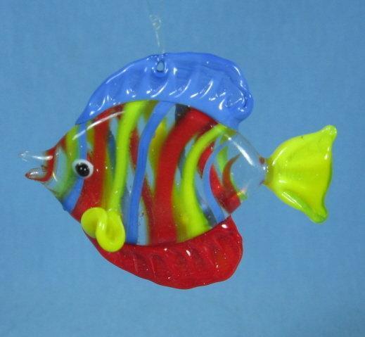 Glass FISH ornament Holiday Ornament or Sun Catcher
