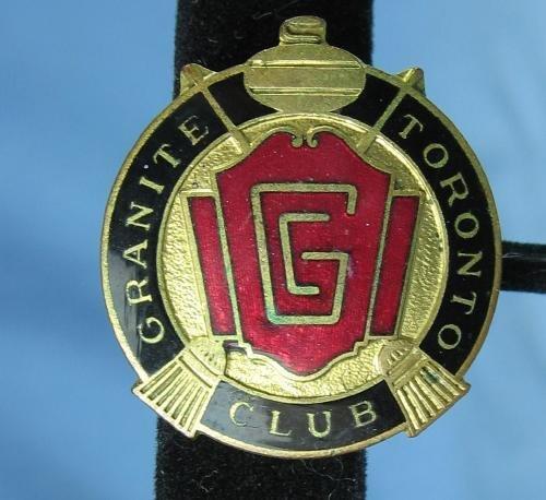 Vintage CURLING Pin GRANITE TORONTO CLUB Enameled Souvenir - sporting