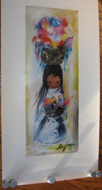 De Grazia Print MANY MANY FLOWERS - Vintage Ethnographic Print