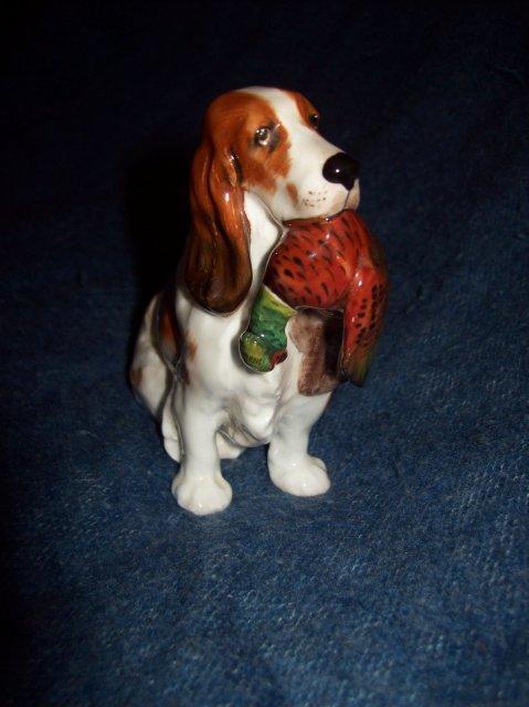 Antique Royal Doultan Porcelain Dog Figurine with Pheasant