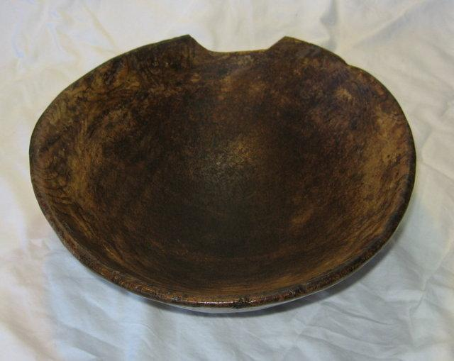 Early American BURL Mix Bowl Wood - HUGE Rare  Antique Country Kitchen Antique
