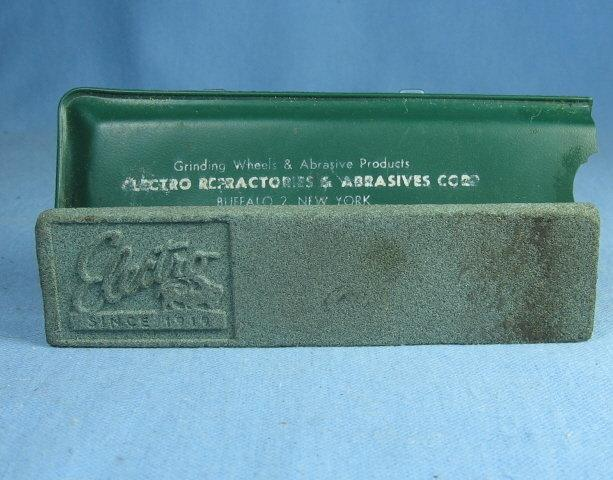 Knife SHARPENING Stone Advertising Electro NY - Vintage Sporting