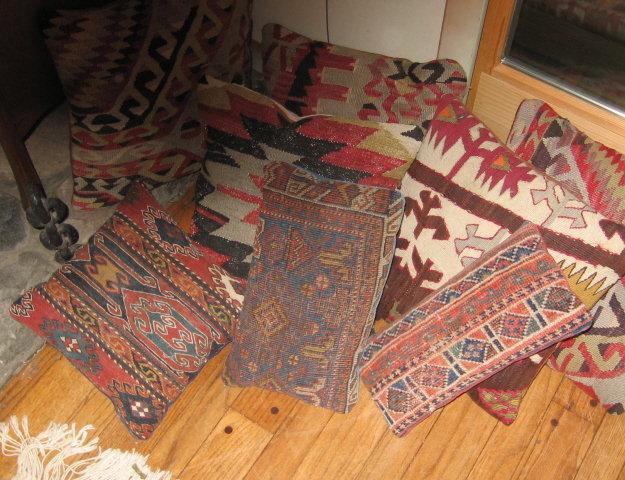 KILM Pillow - Antique Oriental Wool Rug Pillow - misc