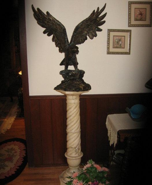 Bronze Sculpture AMERICAN EAGLE - Vintage metalware FAL