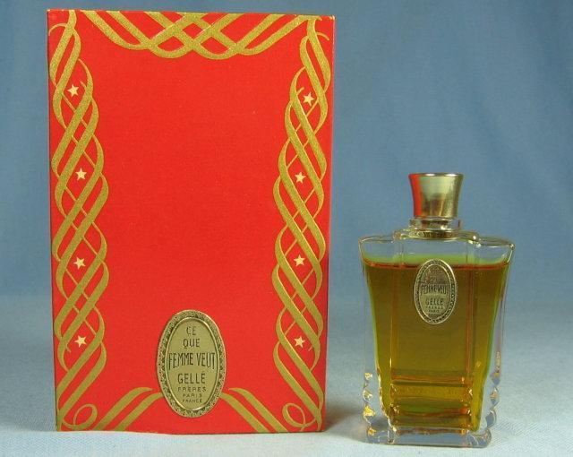 Gelle Freres RARE Perfume Bottle CE QUE FEMME VEUT