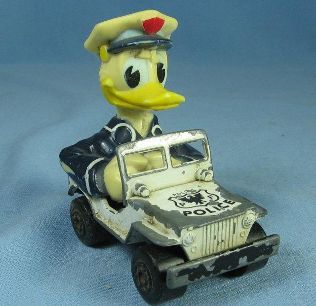 Vintage Disney DONALD DUCK  Matchbox POLICE Car - Die Cast Toy