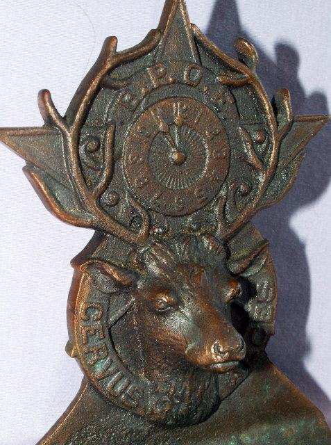 Solid Bronze ELKS Bookends - Metalware