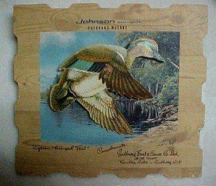 Johnson Sea-Horse Duck Diecut Adv. - Sporting