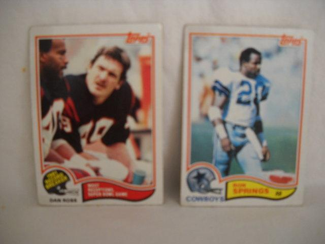 Topps (2) card. Ron Spings & Dan Ross