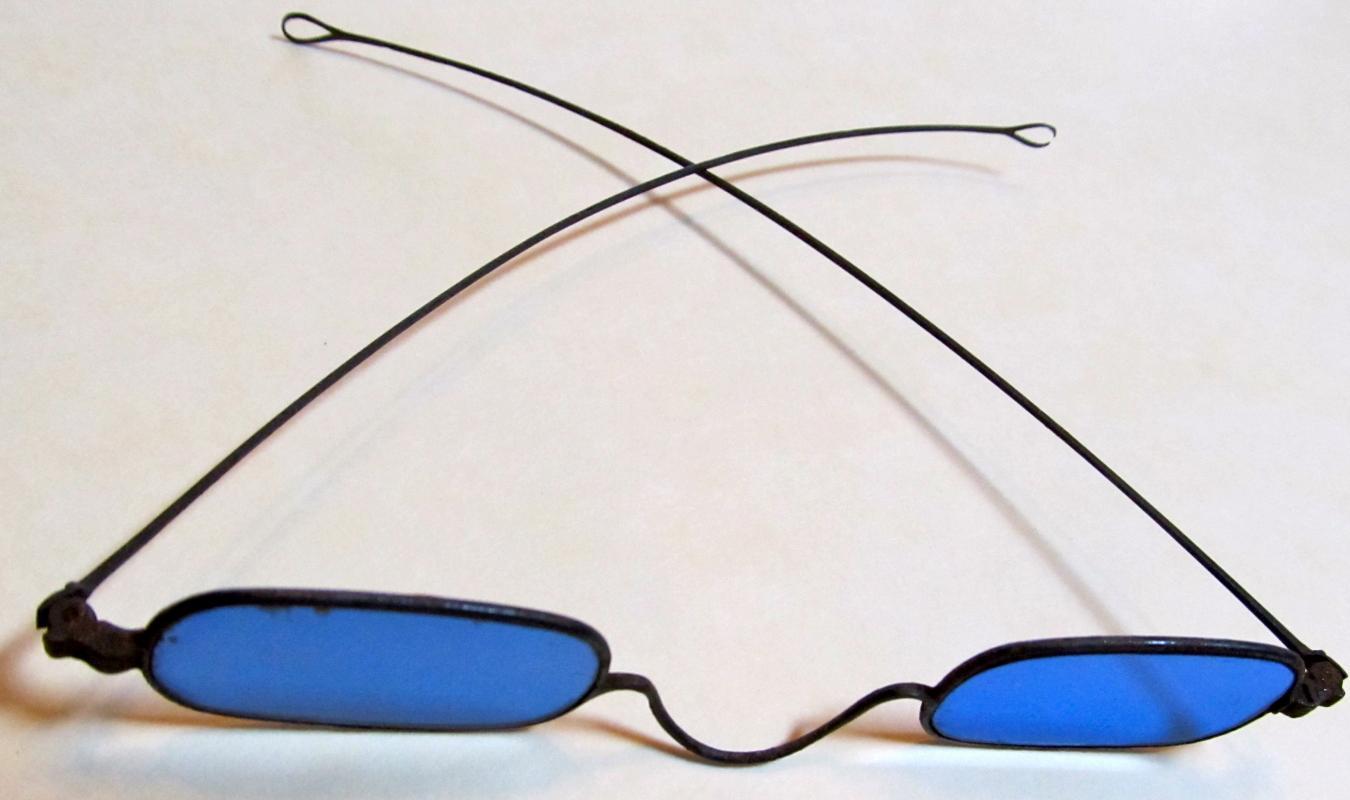 Cobalt Blue Colored Glasses - Glass