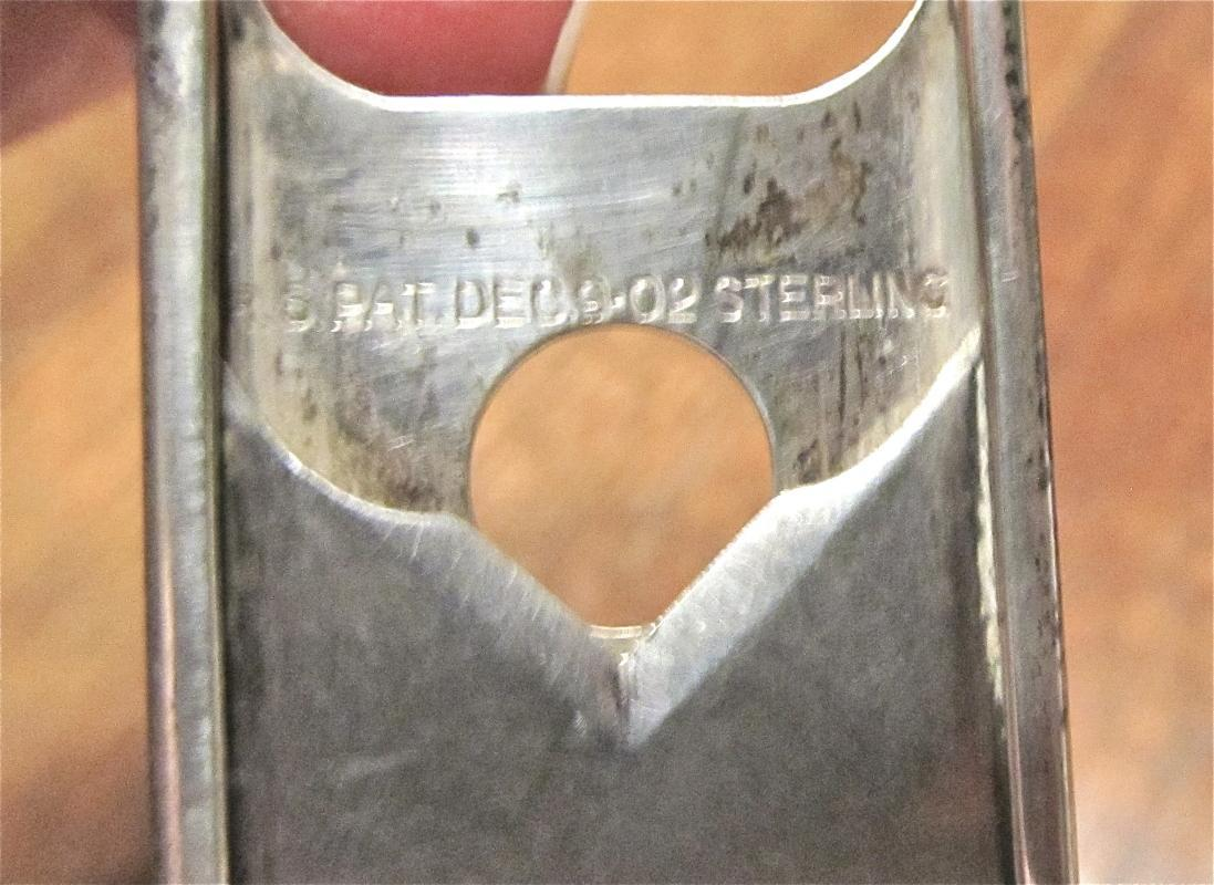 Sterling Cigar Cutter - Tobacciana / Miscellaneous