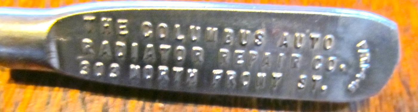 Columbus Auto Radiator Repair Co.Screw Driver - Tool