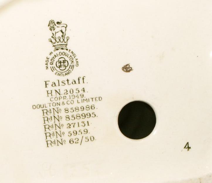 Royal Doulton FALSTAFF Porcelain  Bookend