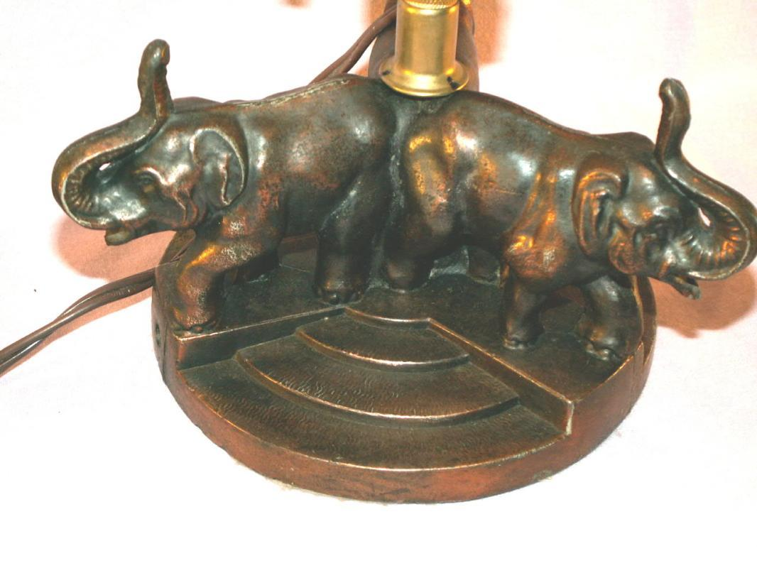 3 Elephant Design Table Lamp - Fine Art & Lamps