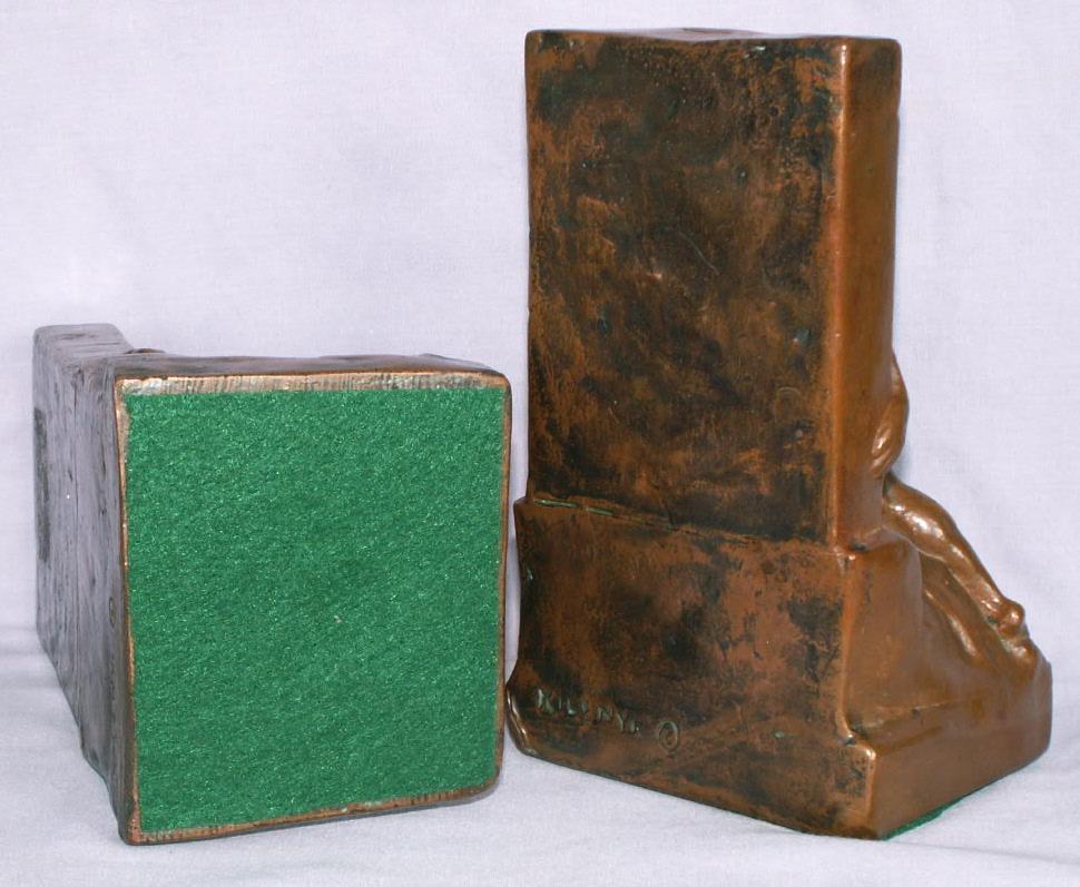 Bronze Clad THE BUILDER bOOKENDS - Metalware