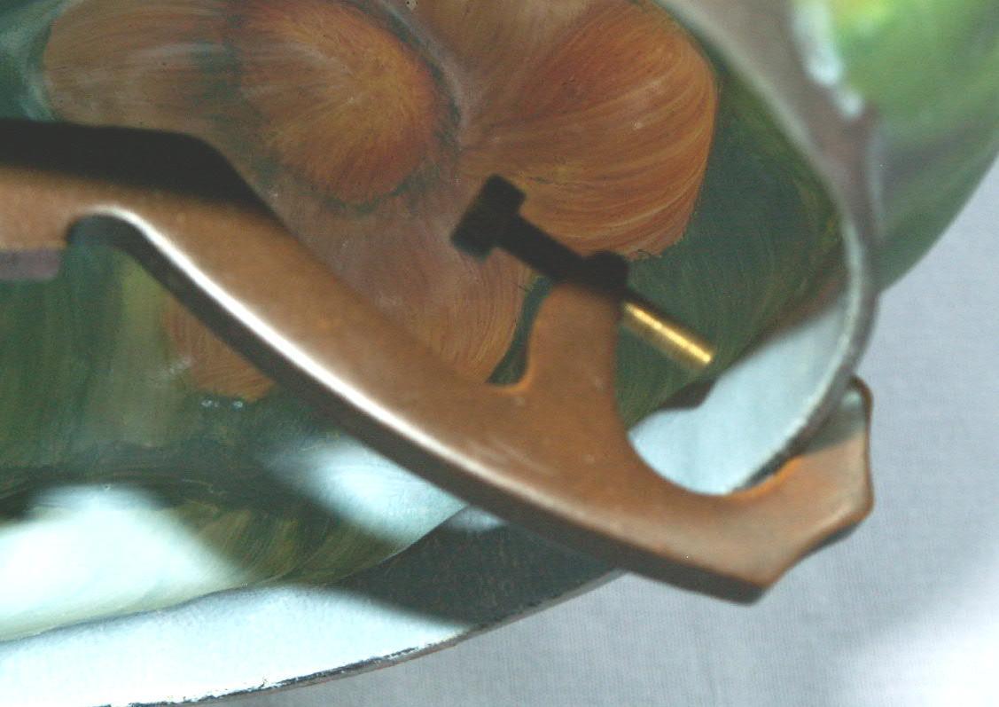 Cast Metal Green Pineapple Looking RADIO LAMP - Fine Art & Lamps