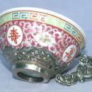 Oriental Porcelain Tea Set with Spoons in Original Box