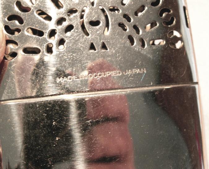 SEARS Occupied Japan Pocket Hand Warmer in Original Pouch - Metalware