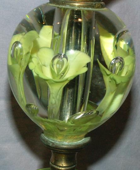 ST  CLAIR Art Glass Electric Lamp - Fine Art & Lamps