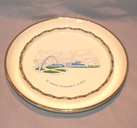FORD St. Louis Assembly Plant Porcelain Ashtray - Tobacciana