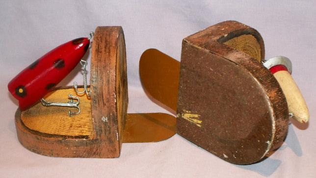 Pair of FISHING LURE Bookends - Sporting