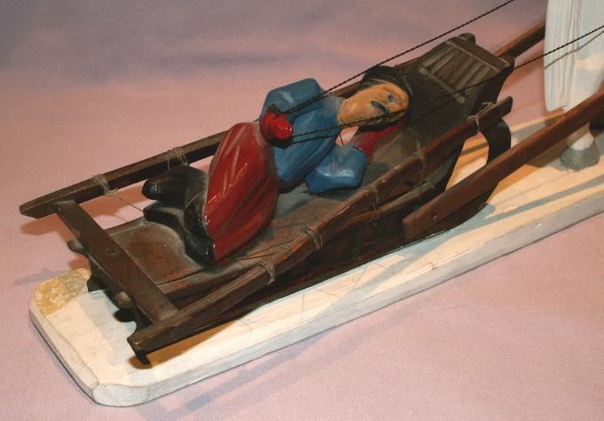 Hand Carved Horse Drawn Sled - Ethnographic