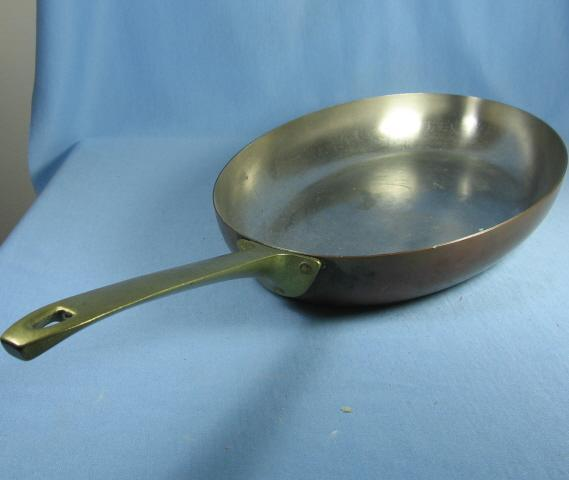 Revere Copper OVAL Skillet with Brass Handle -  Revere metalware