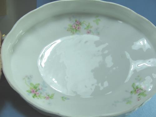 Theodore Haviland Limoges COVERED OVAL CASSEROLE Serving Bowl -  France Porcelain