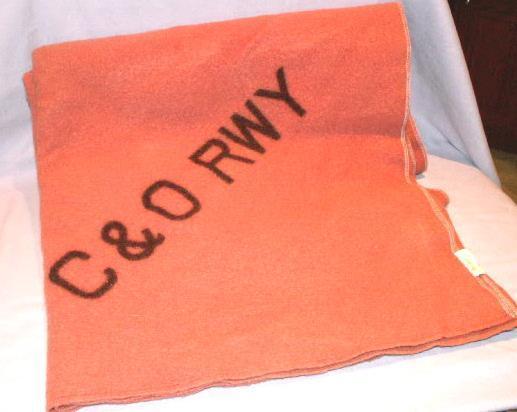 Burnt Orange C & O RAILWAY Woolen Blanket - Textiles