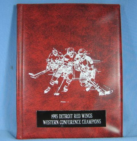 1995 Detroit Red Wings TRADING CARD Album ~ Western Conference Champions TRADE CARD Album - Vintage Sporting