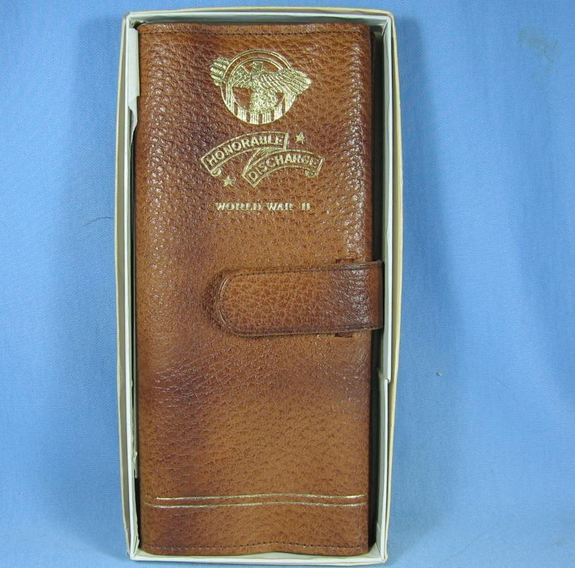 WWII Genuine Leather Discharge & Service Record Folder