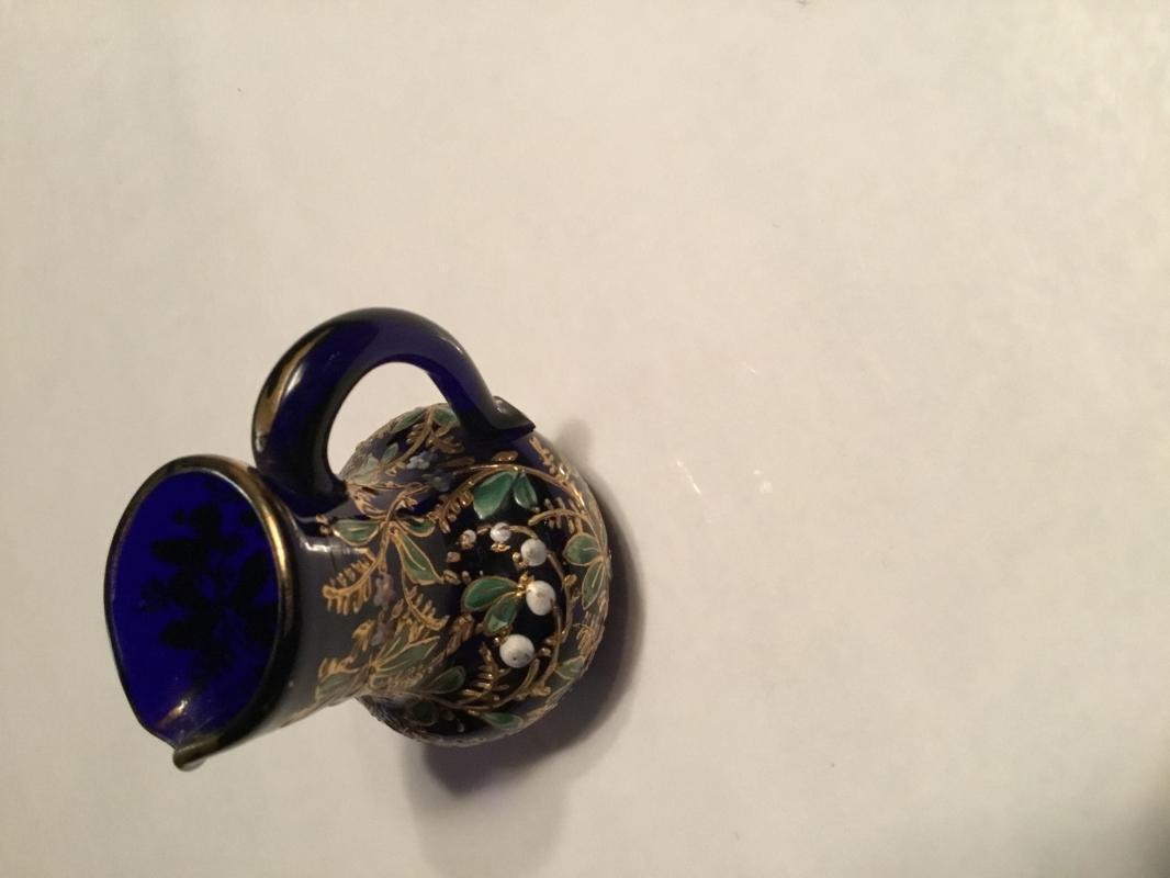 MOSER Enameled Cobalt Mini Creamer - Glass