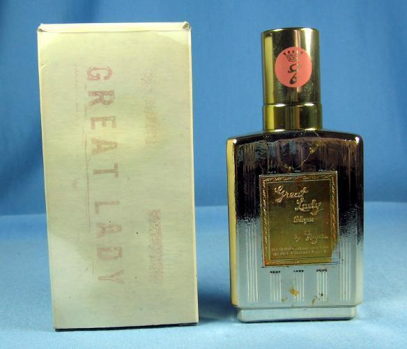 GREAT LADY   Vintage Glass Commercial Perfume Bottle
