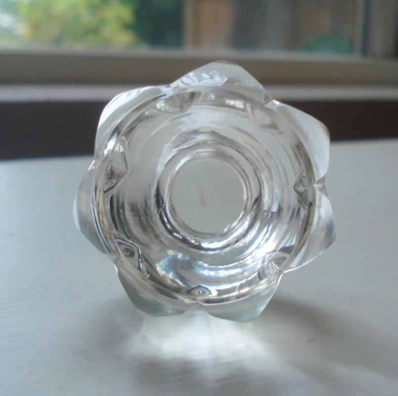 Lappás Brand Crystal Perfume Bottle with Matching Stopper