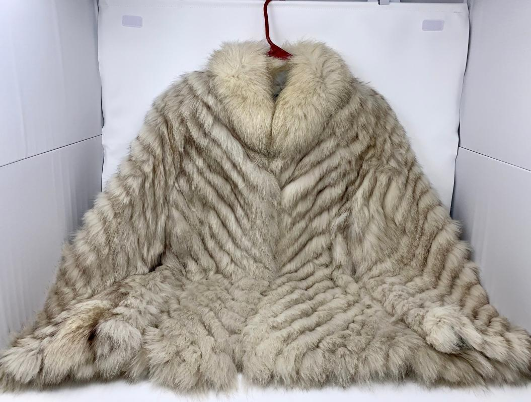 Saga Furs Blue Fox fur coat