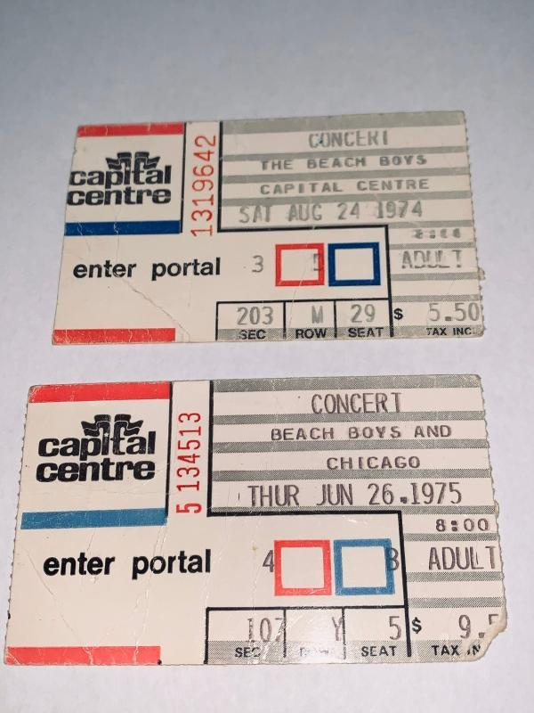 Vintage 1970s Concert Ticket Stubs including Lynyrd Skynyrd, Beach Boys, many famous musicians