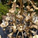 Large Vintage Gold Chandelier with 10 Arms
