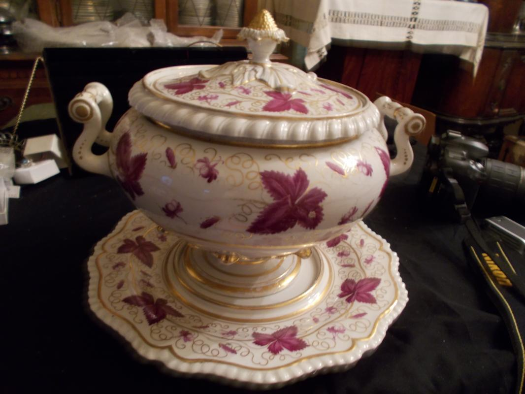 A Rare and Incredible c1810 Flight Barr & Barr Worcester Soup Tureen with the Original Under Tray or Platter Stand.