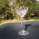 Rare, Libbey Signed Engraved Cut Glass Compote. Signed on the Base