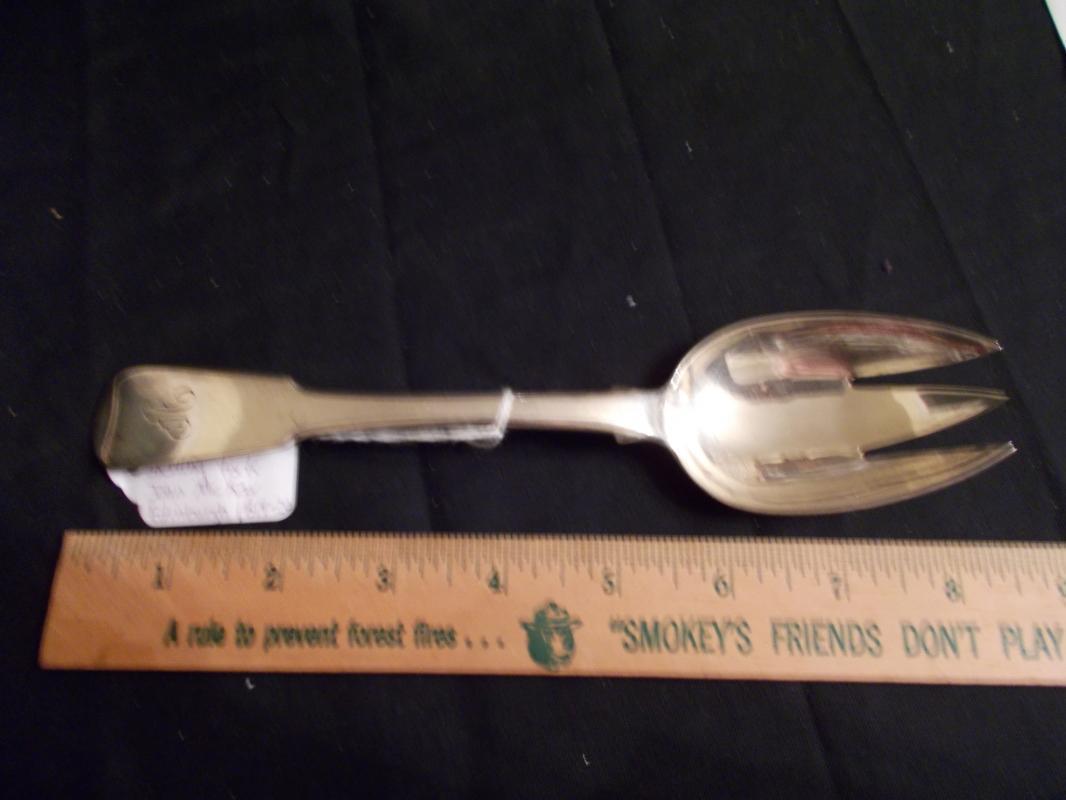 Antique Scottish Silver Serving Fork. Edinburgh, Scotland. 1819-1820. John McKay