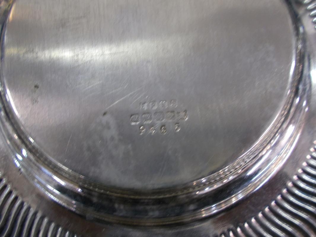 Antique British Silver & Cut Glass Butter Dish.