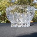 Gorgeous, Heavy Cut Glass Bowl in Adam Swag Style. c. 1890