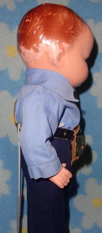 Rare Factory Original Baby Grumpy Policeman Composition Doll by Effanbee