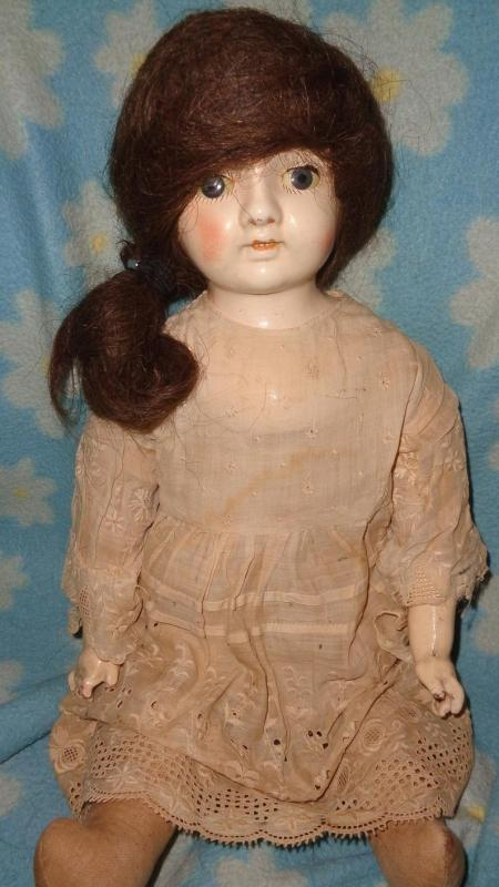 Very Early Ideal Composition Doll ~ Hauntingly Pretty