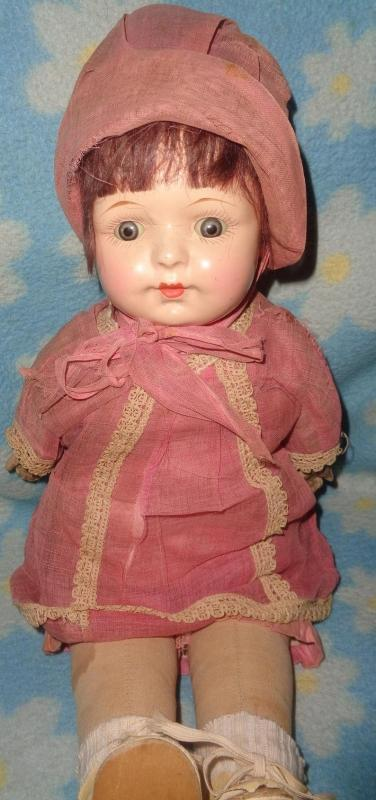 Early 1928 Composition Mama Doll ~ Factory Original
